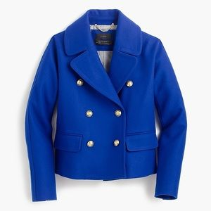 J CREW CROPPED DOUBLE-BREASTED PEACOAT